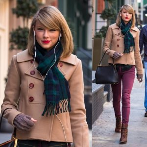 taylor-swift-checkered-plaid-scarf-green-march-28-steven-alan-2014